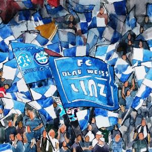 Blau-Weiß Linz Fans