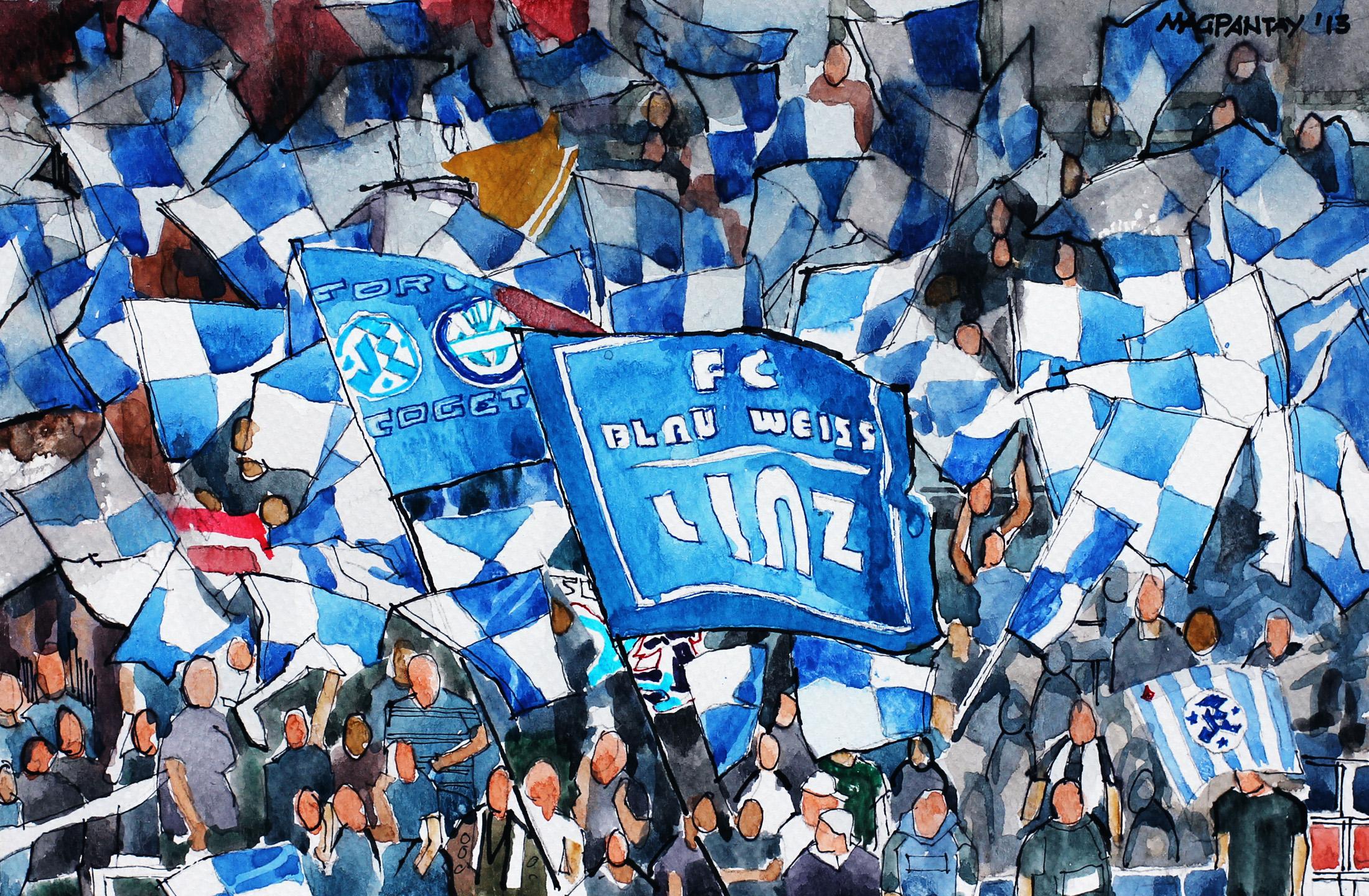 Fantribüne Fc Blau Weiß Linz Abseitsat Shop