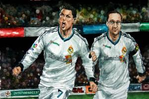 Jubel mit Cristiano Ronaldo